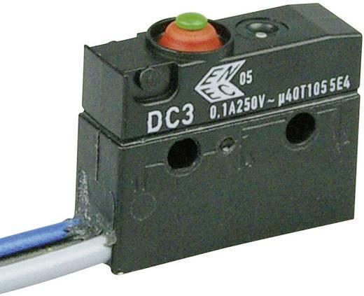 Cherry Switches Szubminiatűr kapcsoló, 250 V/AC DC3 DC3C-C3AA 1 váltó Litze 500 mm IP67
