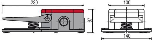 Pizzato Elettrica PIZZATO - lábkapcsoló PA 20301-M2 Pedálvédelem nélkül Piros Csúszó érintkező (1 Ny / 1 Z) 250 V/AC 6 A