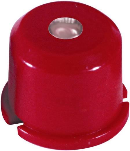 MEC Multimec nyomógomb sapka 1E091 Vörös, kis lencsével (víztisztán átlátszó) Fekete