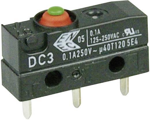 Cherry Switches Szubminiatűr kapcsoló, 250 V/AC DC3 DC3C-H1AA 1 váltó nyákba ültethető, 1,3 x 0,5 mm IP67