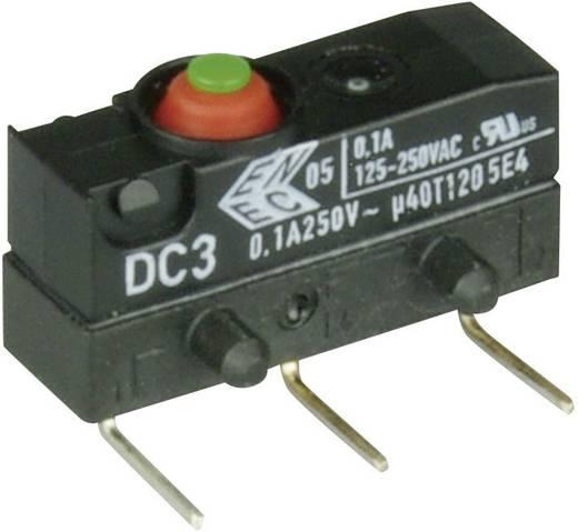 Cherry Switches Szubminiatűr kapcsoló, 250 V/AC DC3 DC3C-K8AA 1 váltó nyákba ültethető, 0,6 x 0,5 mm, jobbos IP67
