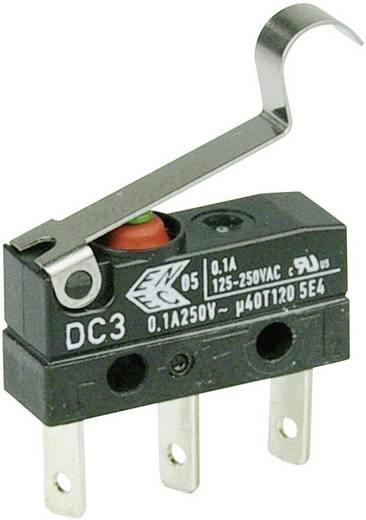 Cherry Switches Szubminiatűr kapcsoló, 250 V/AC DC3 DC3C-L1SC 1 váltó laposérintkezős dugó, 2,8 x 0,5 mm IP67