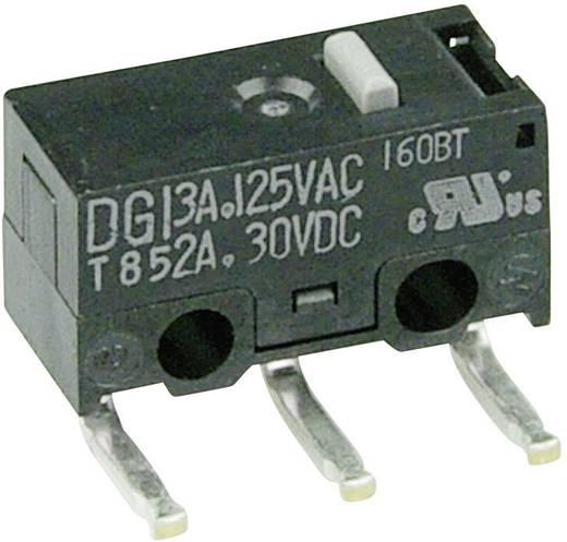Mikrokapcsoló 125 V/AC 3 A 1 x BE/(BE) Cherry Switches DG13-B2AA nyomó 1 db
