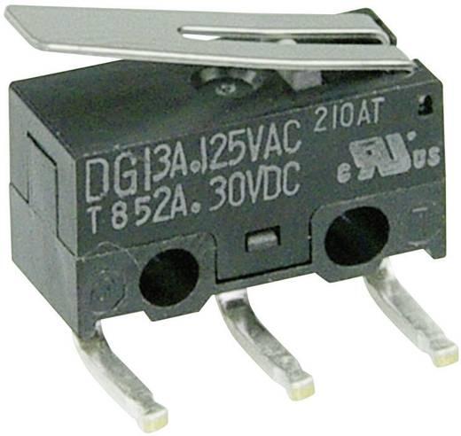 Mikrokapcsoló 125 V/AC 3 A 1 x BE/(BE) Cherry Switches DG13-B2LA nyomó 1 db