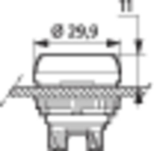 Nyomógomb, krómozott elülső gyűrű, fekete BACO L21CA03 1 db