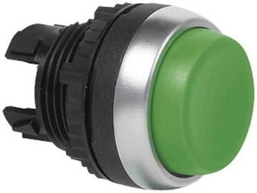 Nyomógomb, krómozott elülső gyűrű, zöld BACO L21CA02 1 db