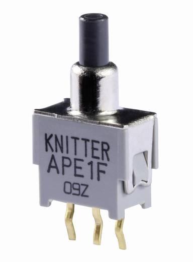 Nyomógomb 48 V DC/AC 0,05 A 1 x BE/(BE) Knitter-Switch APE 1F-RA nyomó 1 db