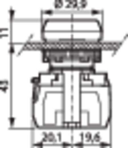 Nyomógomb, krómozott elülső gyűrű, piros BACO L21AA81B 1 db