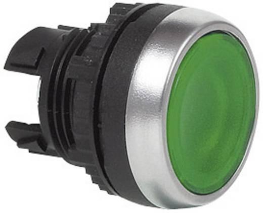 Nyomógomb, krómozott elülső gyűrű, zöld BACO L21CH20 1 db