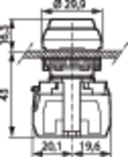 Nyomógomb, krómozott elülső gyűrű, piros BACO L21AB01A 1 db