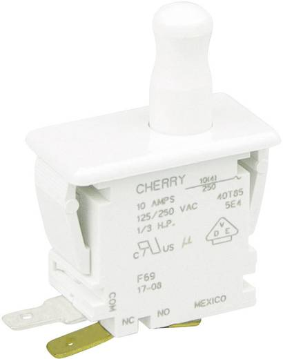 Nyomógomb 250 V/AC 10 A 1 x BE/(BE) Cherry Switches F69-30A nyomó 1 db
