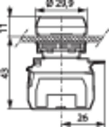 Nyomógomb, krómozott elülső gyűrű, piros BACO L21AH10L 1 db
