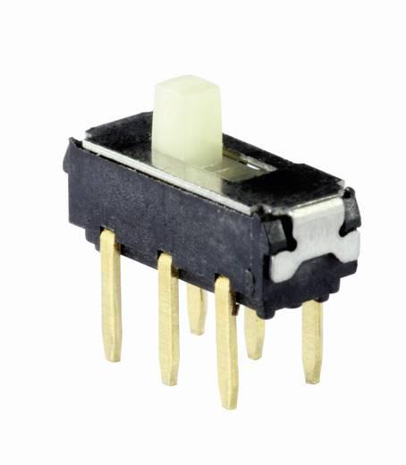 Knitter-Switch MMP 221B tolókapcsoló, 2xbe/be, 6V/DC 200mA