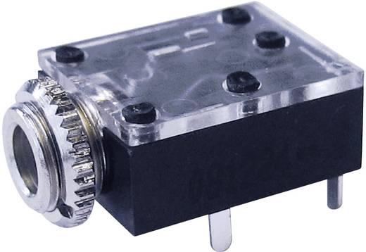 Jack csatlakozó, 3,5 mm alj, beépíthető, vízszintes pólusszám: 3 Sztereo fekete Cliff FT6320 1 db