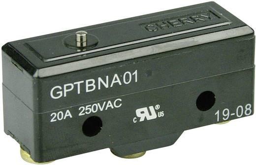 Mikrokapcsoló 250 V/AC 20 A 1 x BE/(BE) Cherry Switches GPTBNA01 nyomó 1 db