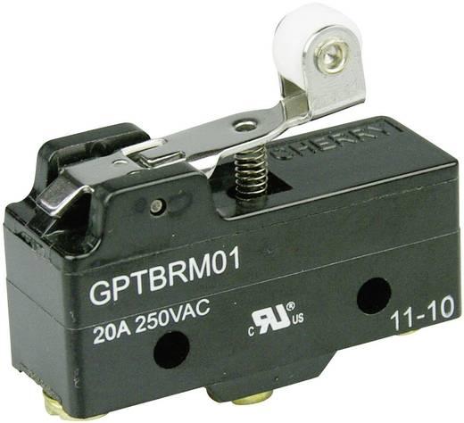 Mikrokapcsoló 250 V/AC 20 A 1 x BE/(BE) Cherry Switches GPTBRM01 nyomó 1 db