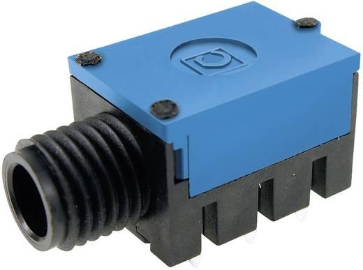 Jack csatlakozó, 6,35 mm alj, beépíthető, vízszintes pólusszám: 3 Sztereo kék Cliff FC67810 1 db