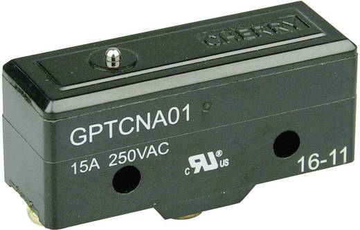 Mikrokapcsoló 250 V/AC 15 A 1 x BE/(BE) Cherry Switches GPTCNA01 nyomó 1 db
