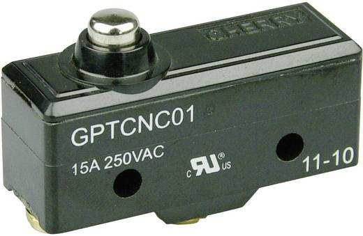 Mikrokapcsoló 250 V/AC 15 A 1 x BE/(BE) Cherry Switches GPTCNC01 nyomó 1 db