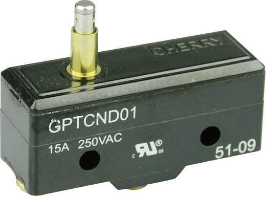 Mikrokapcsoló 250 V/AC 15 A 1 x BE/(BE) Cherry Switches GPTCND01 nyomó 1 db