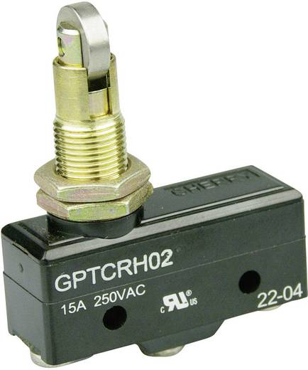 Mikrokapcsoló 250 V/AC 15 A 1 x BE/(BE) Cherry Switches GPTCRH02 nyomó 1 db