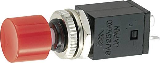 Kapcsoló 125 V/AC 3 A 1 x BE/BE Miyama DS-409 reteszelő, piros, 1 db