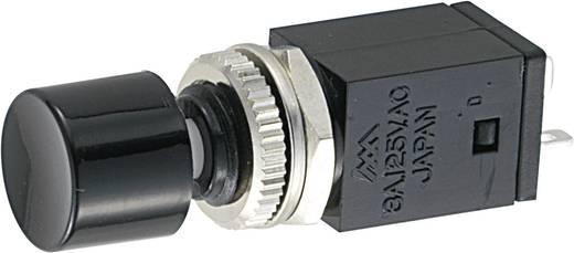 Kapcsoló 125 V/AC 3 A 1 x KI/BE Miyama DS-408 reteszelő, fekete, 1 db