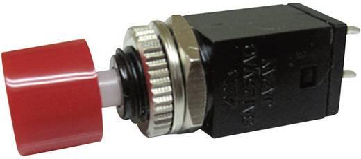 Nyomógomb 125 V/AC 3 A 1 x KI/(BE) Miyama DS-410 nyomó piros