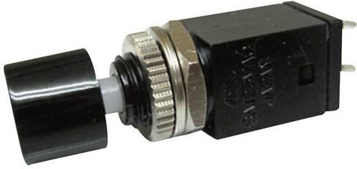 Nyomógomb 125 V/AC 3 A 1 x KI/(BE) Miyama DS-410 nyomó fekete