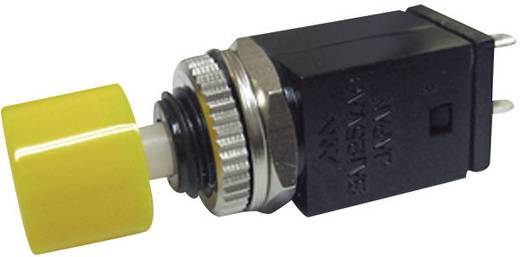 Nyomógomb 125 V/AC 3 A 1 x KI/(BE) Miyama DS-410 nyomó, sárga