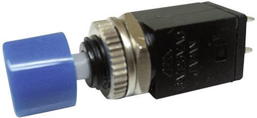 Nyomógomb 125 V/AC 3 A 1 x KI/(BE) Miyama DS-410 nyomó kék