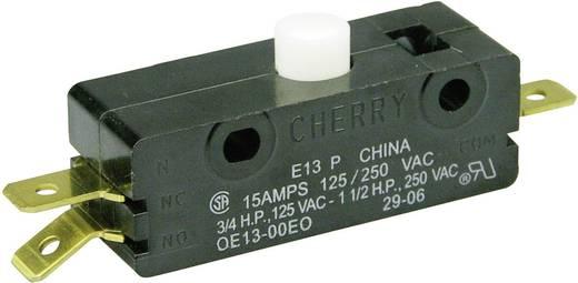 Mikrokapcsoló 250 V/AC 15 A 1 x BE/(BE) Cherry Switches E13-00E nyomó 1 db