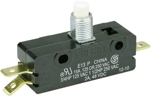 Mikrokapcsoló 250 V/AC 15 A 1 x BE/(BE) Cherry Switches E13-00J nyomó 1 db