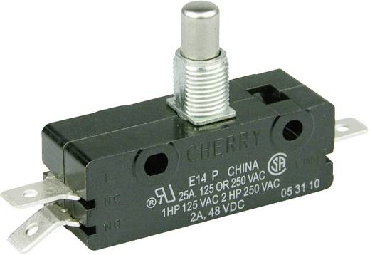 Mikrokapcsoló 250 V/AC 25 A 1 x BE/(BE) Cherry Switches E14-00M nyomó 1 db