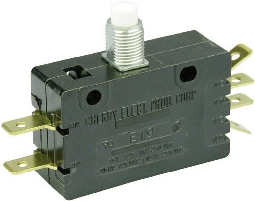 Mikrokapcsoló 250 V/AC 15 A 2 x BE/(BE) Cherry Switches E19-00J nyomó 1 db