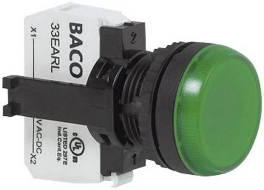 Jelzőlámpa, LED elemmel, zöld 24 V/DC, 24 V/AC BACO L20SE20L 1 db