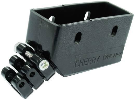 Cherry Switches Borítás GP báziskapcsolóhoz 0015-0703 Vezeték kimenet, 45 ° Fekete Alkalmas GP báziskapcsoló