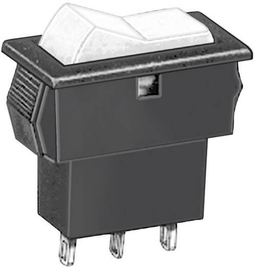 APEM miniatűr billenőkapcsoló, 1xbe/ki/be, 20V, 20mA, AS39S0000