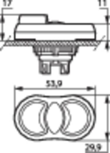 Kettős nyomókapcsoló, krómozott elülső gyűrű zöld, piros BACO L61QK21 1 db