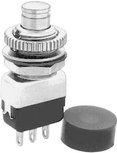 Nyomógomb 220 V/AC 2 A 1 x BE/(KI) APEM 10435A nyomó 1 db