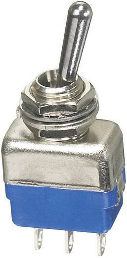APEM miniatűr karos kapcsoló, 1x(be)/ki/(be), 250V/AC, 2A, 11137A
