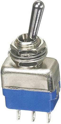 APEM miniatűr karos kapcsoló, 1xbe/ki/be, 250V/AC, 2A, 11139A
