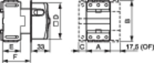 Terhelés leválasztó kapcsoló, 25 A 1 x 90 ° sárga, piros BACO 0172001 1 db
