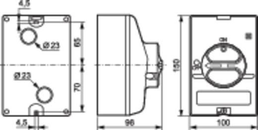 Terhelés leválasztó kapcsoló, lereteszelhető 25 A 1 x 90 ° szürke, szürke BACO 174061 1 db