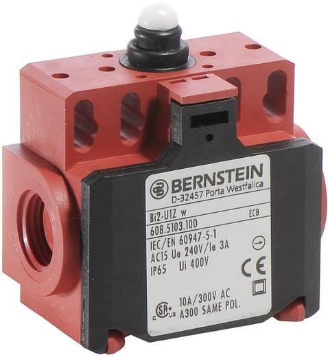 Pozíció kapcsoló, nyomócsapos, 240 V/AC, 10 A, 58 mm, 1 záró/1 nyitó, Bernstein BI2-SU1Z W
