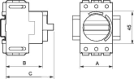 Terhelés leválasztó kapcsoló, 32 A 1 x 90 ° szürke, fekete BACO 174105 1 db