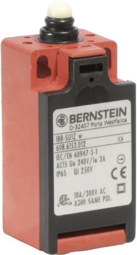 Pozíció kapcsoló, nyomócsapos, 240 V/AC, 10 A, 31 mm, 1 záró/1 nyitó, Bernstein I88-SU1Z W