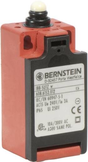 Pozíció kapcsoló, nyomócsapos, 240 V/AC, 10 A, 31 mm, 1 záró/1 nyitó, Bernstein I88-U1Z W