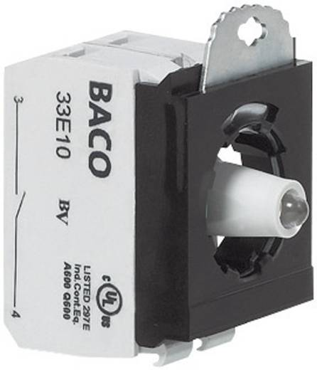 3 részes adapter érintkező elemmel LED-del, piros, 24 V/10 A, rugós csatlakozóval, BACO 333ERARL11