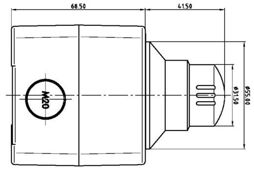Vészkikapcsoló 250 V/AC 16 A 2 nitó Schlegel SIL22_QRBLUV_118308 IP65 1 db